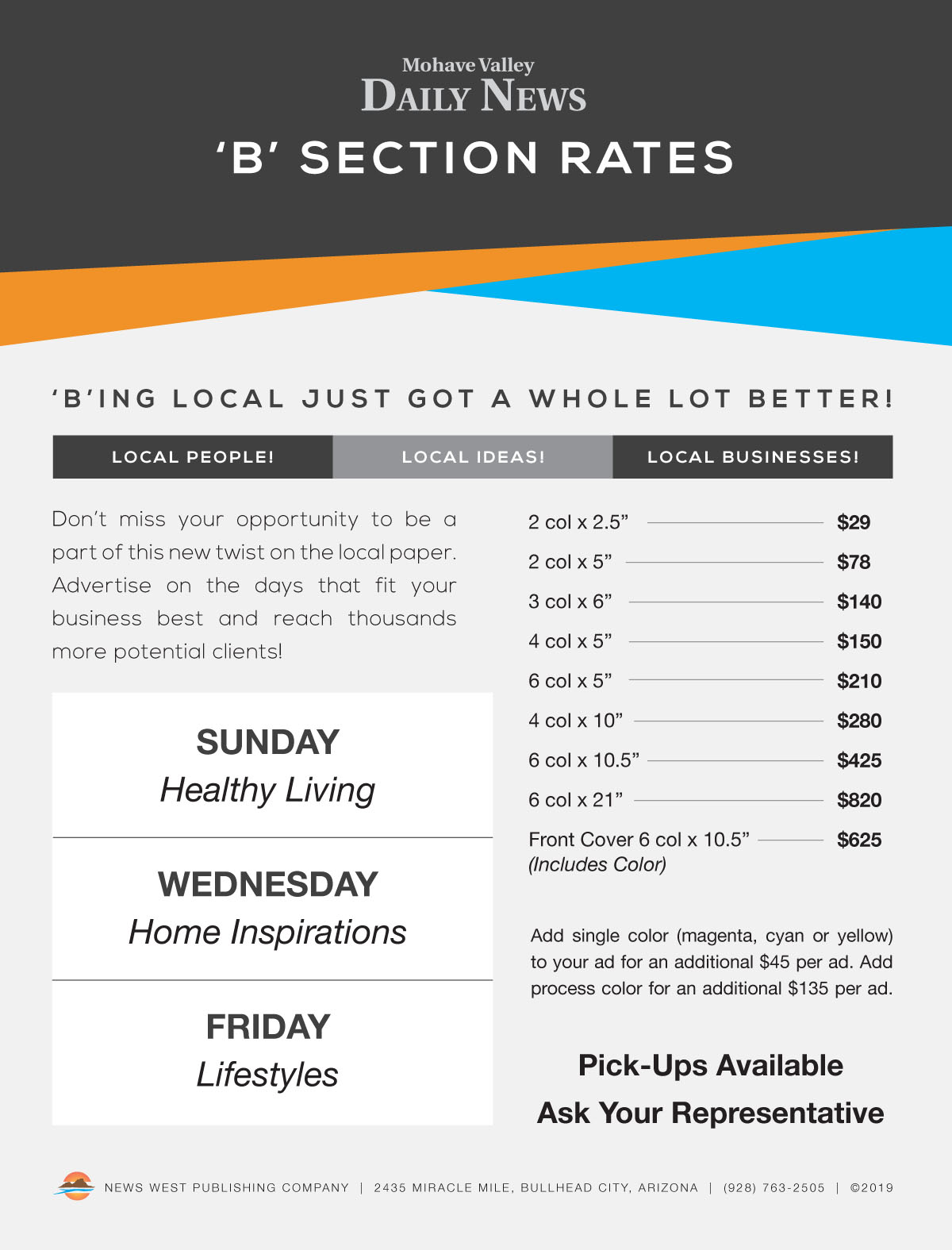 03 - B-Section Rates 2019