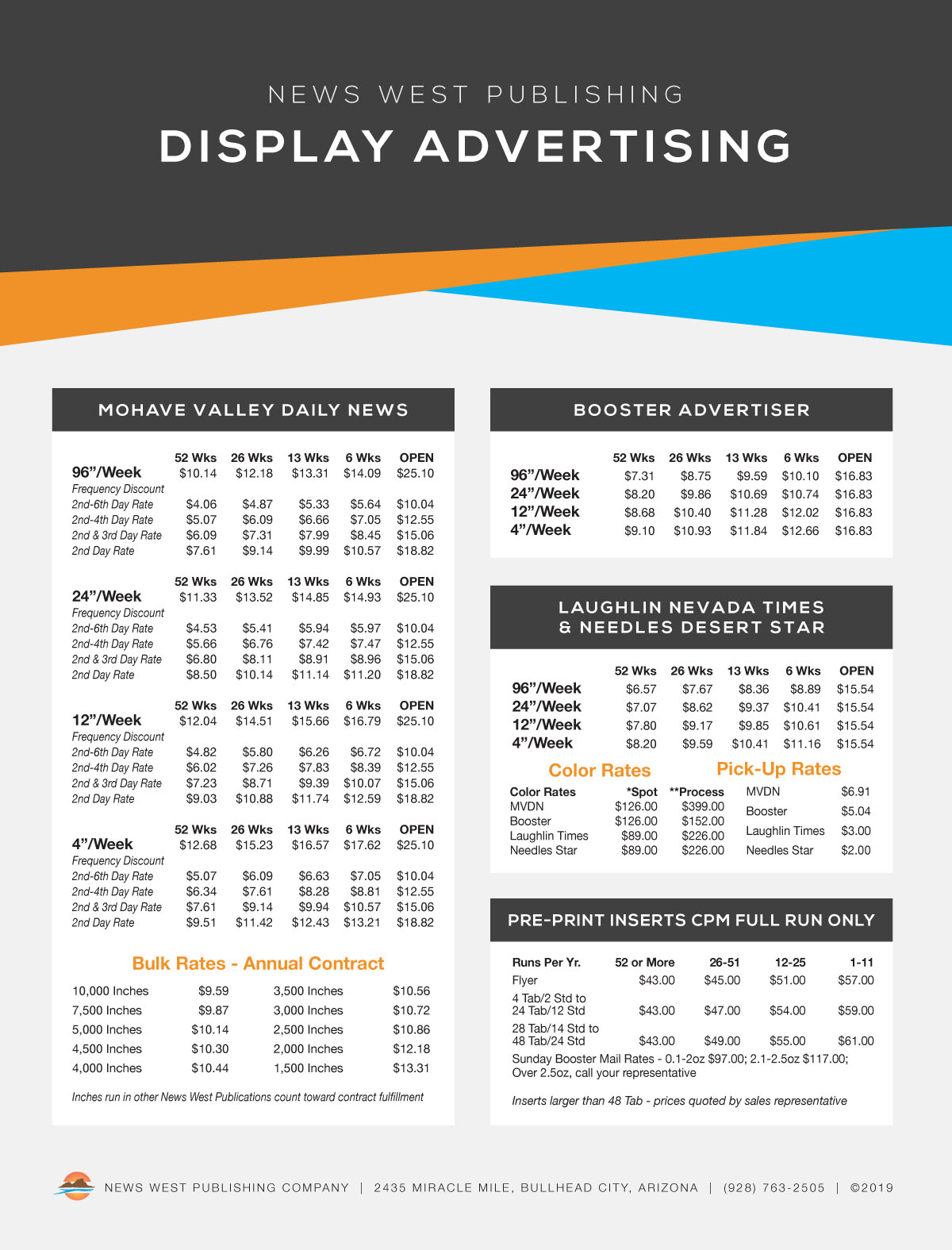 08 - Display Advertising Rates 2019