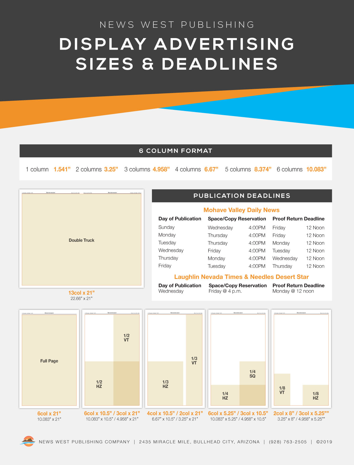09 - Display Advertising Sizes & Deadlines 2019